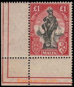 74150 - 1922 Mi.96 £1, rohový kus s okraji