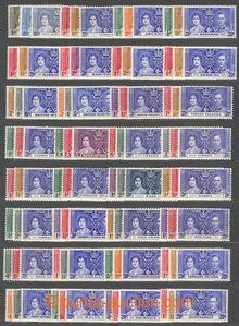 74156 - 1937 COLONIES  kompletní vydání známek ke korunovaci v roce