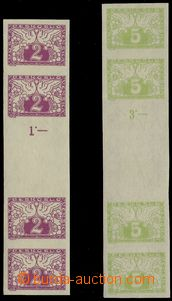 74169 - 1919 Pof.S1Ms + S2Ms, spěšné, stejnosměrná meziarší 4-známko