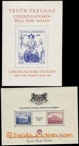 74192 - 1939 Exile issue, Pof.AS3a, miniature sheet Bratislava Pof.A