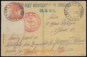 74211 - 1919 PR Sokolský slet ve Znojmě/ 24.VIII.1919, 2x na pří