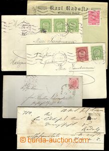 74213 - 1850-1918 comp. 6 pcs of letters sent from Brno, various pos