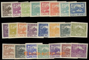 74227 -  Pof.1-26, basic comp. of stamps Hradčany, 23 pcs of, mostl