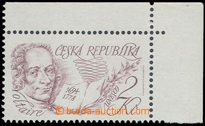 74253 - 1994 Pof.32, UNESCO - Voltaire, UR corner piece without podt