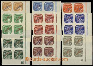 74291 - 1939 Alb.NV1-NV9, pravé dolní 4-bloky s DČ 37, kat. asi 4500