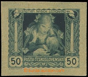 74293 -  PLATE PROOF stamps Mother and Child in value 50h(!), green-