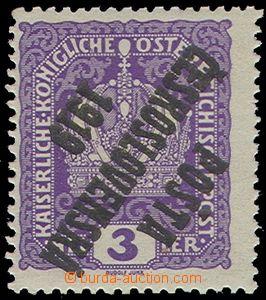 74302 -  Pof.33Pp, Crown 3h, overprint inverted, part marks, nice qu