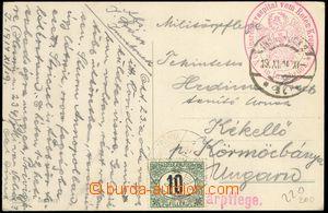 74327 - 1914 Postage due stmp, postcard Innsbucku to Kremnice (Körm