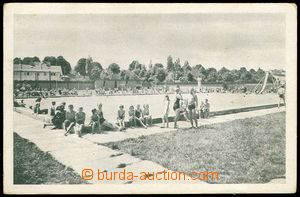 74330 - 1945 ŠLAPANICE (Lapanz) - swimming pool, people; Us, provis