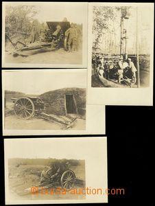 74361 - 1915 sestava 4ks pohlednic, zbraně a posádka, hezké detai
