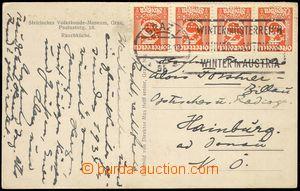 74370 - 1933 SWITZERLAND  pohlednice vyfr. 4-páskou zn. Mi.449 s pe