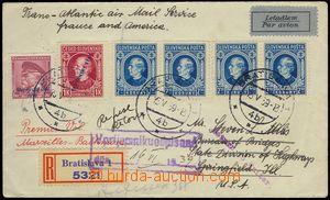 74372 - 1939 R+Let dopis do USA, vyfr. zn. Alb.12, 24, 31 4x, DR BRA
