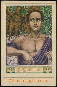 74373 - 1910 LIST W.: Die Dichtkunst, secese, signováno; nepoužit�
