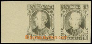 74398 - 1939 Alb.N26, Hlinka 10h, krajová nezoubkovaná dvojpáska, ne