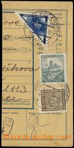 74411 - 1939 DELIVERY  parcel dispatch card segment, parallel franki