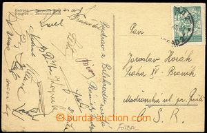 74453 - 1946 SPORTSMEN / FOOTBALL  postcard Belgrade with signatures