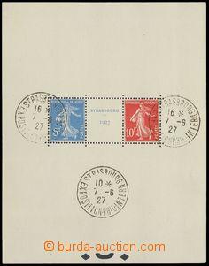 74455 - 1927 Mi.Bl.2, Výstava známek Strasbourg, kat. 1100€