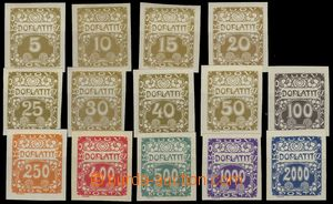 74504 - 1919 Pof.DL1-14, Ornament, complete set., č.DL11 yellowish