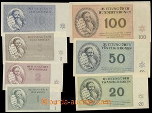 74520 - 1943 C.C. TEREZIN-THERESIENSTADT  complete set 7 pcs of bank