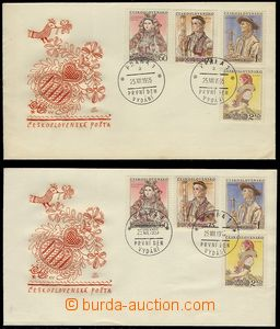74557 - 1955 FDC Costumes 1955, 2 pcs of, from that 1x with T II. va