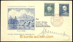 74564 - 1948 special envelope to election president republic, V A/48