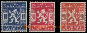 74568 - 1918 Pof.SK1-2 + ZT známky 20h v rumělkové barvě s lesklým l