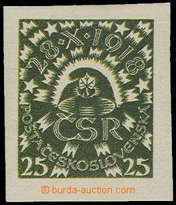 74575 - 1919 návrh prof.J.Bendy, 2.soutěž, hodnota 25h, Čepec, z