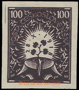 74582 - 1919 návrh prof.J.Bendy, 2. soutěž, hodnota 100h, Lípa u