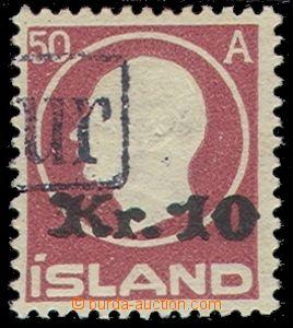74583 - 1925 Mi.120 overprint 10Kr/50A, fiscal usage, partial imprin
