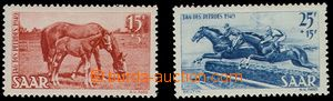 74585 - 1949 Mi.265-266, Day horses, mint never hinged, c.v.. 35€