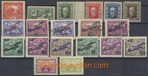 74595 - 1919-23 ČSR I.   sestava dražších známek nižší kvality (KVP)