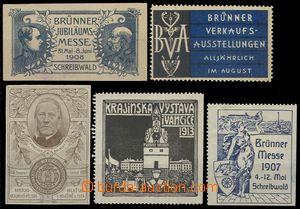 74600 - 1908-20 EXHIBITIONS / CZECH LANDS  comp. 5 pcs of advertisin