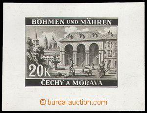 74605 - 1940 Pof.48, Landscape II. Prague - Wallenstein garden, orig