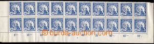 74618 - 1919 Pof.29A, 50h blue, lower bnd-of-20 with margin, control