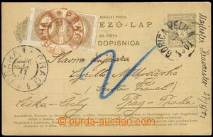 74622 - 1901 PC Mi.P23, Hungarian-Croatian variety, to Prague, CDS G