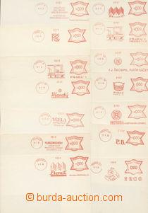 74629 - 1931-39 FRANKOTYPY / ČSR I.   partie 54ks listů s OVS, jen