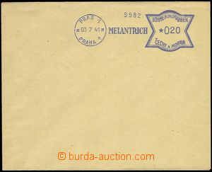 74634 - 1941 bianko obálka s modrým OVS PRAG 1/ PRAHA 1/ 03.7.41 M