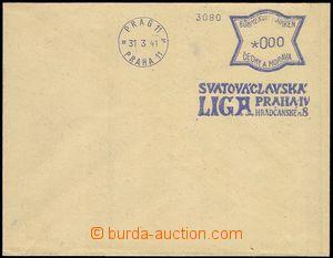 74635 - 1941 bianko obálka s modrým OVS PRAG 11/ PRAHA 11/ 31.3.41