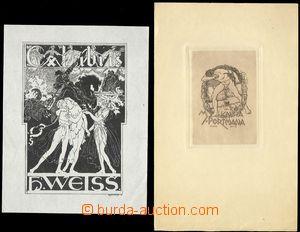 74648 - 1910-20 EROTICISM  comp. 7 pcs of exlibris with erotickým mo