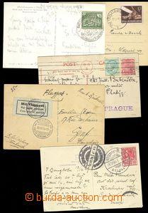 74663 - 1920-1950 WW  sestava 5ks pohlednic, lepší frankatury, desti