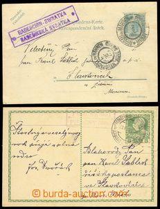 74670 - 1905-1910 postal-agency PÍSEČNÝ and RADEŠÍNSKÁ SVRATKA