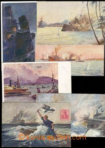 74685 - 1919 comp. 6 pcs of Ppc, German and Austrian ships, 1x Us, s