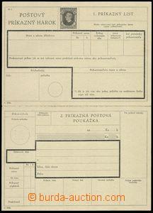 74691 - 1940 CPH2, příkazka 50h černá, neoddělená, v perforaci