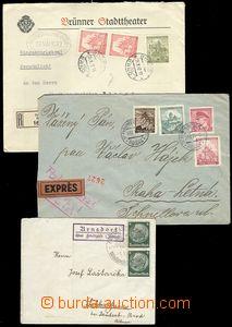74701 - 1939-42 comp. 3 pcs of entires, 1x Sudetenland - postal-agen