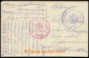 74705 - 1915 2ks pohlednice zaslané z PP, 1x tarnstempel IX/2 a cen