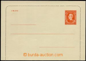 74707 - 1939 CZL1, Hlinka 1Ks, on/for zadním margin small stain, ot