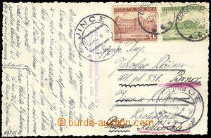 74715 - 1939 postcard franked with. Polish stamp. CDS CIESZYN 2/ 13.
