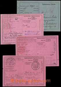 74732 - 1939-45 comp. 12 pcs of postal blank forms (order, dispatch-