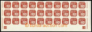 74743 - 1940 Pof.NV5, the bottom bnd-of-30, plate number L + R 4-40,