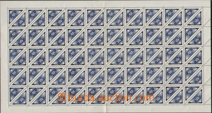 74745 - 1939 Pof.DR1, Delivery stmp blue 50h, complete counter sheet